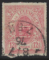 +++GREAT FIND+++ Luxembourg 1865 12 1/2 used VF