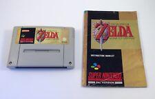 La Leyenda de Zelda: a Link to the Past Super Nintendo SNES Carro De Juego Con Manual