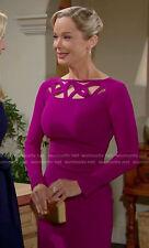 $695 LA PETITE ROBE DI CHIARA BONI TERRIE DRESS in Magenta Pink  SZ 50/14  NWT