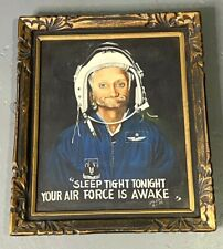"1975 ""Sleep Tight Tonight Your Air Force Is Awake"" Original Oil Painting"