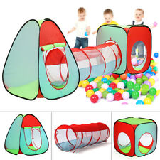 3 In 1 Kids Baby Play Tent Ball Pit Pool House Crawl Tunnel Indoor Outdoor Game