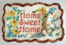 Charming Tails Home Plaque Sweet Home Free Ship
