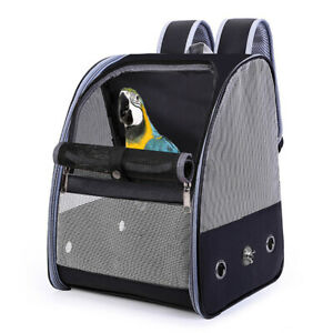 Bird Parrot Pet Carrier Front Pack Backpack Breathable Travel Bag Cage Outdoor
