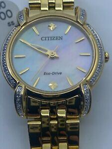 CITIZEN Jolie Diamond White Dial Ladies Watch EM0692-54D