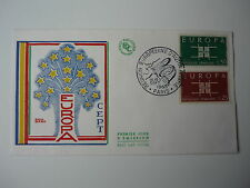 ENVELOPPE 1er JOUR FDC 1963  EMISSION EUROPA OBLITERATION ILLUSTREE  PARIS