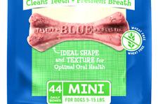 Blue Buffalo Dental Bones Natural Adult , Chew Dog Treat Mini (set 2x12-oz )
