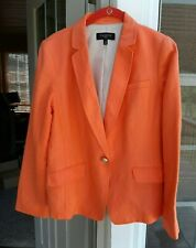TALBOTS PETITES ORANGE LINEN BLAZER JACKET ~ 14P