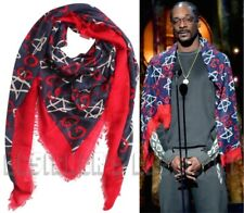 """GUCCI navy red GG GHOST modal 54""""-square shawl SNOOP DOGG scarf NWT Authent $420"""