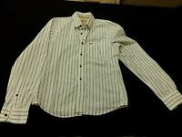 HOLLISTER Button Down striped collar Long Sleeve Shirt Mens Large
