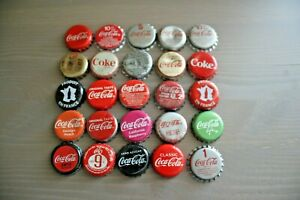 SET OF 25  WORLDWIDE USED COCA-COLA/COKE BOTTLE CAPS (SOME RARE!!)