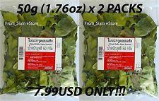 KAFFIR LIME Dried Leaves Asian Thai Cuisine TOM YUM Healthy Tea - 100g (3.53oz)