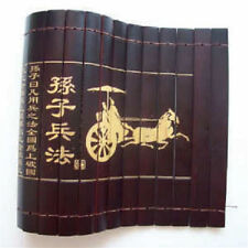 "Chinese Classical Bamboo Scroll Slips famous Book of  ""the art of war"""