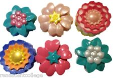 FLOWERS 6 Different Shapes Silicone Mould: Soap Candles Muffin CupCake Mold