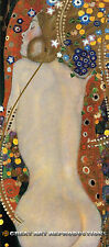"""Sea Serpents IV"", Gustav Klimt, Reproduction. in Oil, 48""x21"""