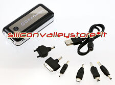Power Bank 5600 MAH Batteria Esterna USB IPhone Samsung HTC Nokia LED Nero