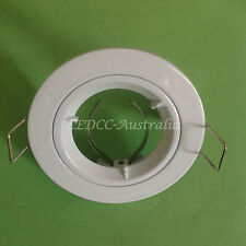 "10x WHITE  LED GU10 MR16 DOWNLIGHT FITTING FIXTURE CEILING LAMP HOLDER ""Fixed"""