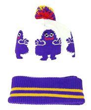 Vintage McDonald's Grimace Beanie Winter Snow McDonaldland Ski Hat with Pom Pom