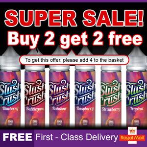 Slush Crush E Liquid 0mg Cheap Vape Juice E-Liquid E-Cigs Nicotine