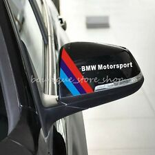 2PCS Black White Rear View Mirror rearview modified Car Stickers Decal For BMW