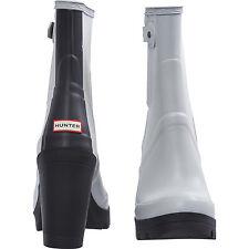 NEW AUTHENTIC  Hunter Original High Heel DOVE GREY Boots / Wellies  - UK Size 7