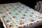 Vintage Cotton Tablecloth 52x64 Fab Color w Fruit