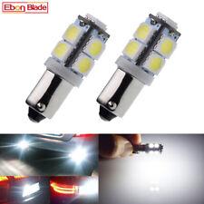 2Pcs BA9S T11 T4W LED Bulbs 9 SMD Car Interior Side Wedge Parker Light White 6V