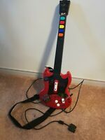 Playstation 2 PS2 Guitar Hero Red Octane PSLGH Red Wired Controller Tested Works