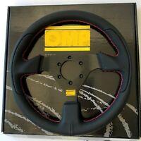 320mm Leather Flat Style Racing Steering Wheel Fit for OMP Hub for AP1 AP2 EP3