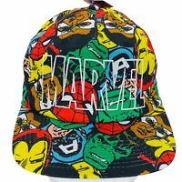 Marvel Comics Superheroes All Over Comic Book Print Adjustable Snapback Hat Cap