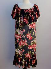 XL LuLaRoe Cici Dress Ruffles Crushed Velvet Dark Gray Pink Floral D1