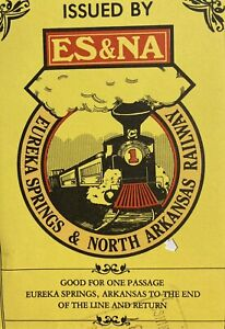 Eureka Springs & North Arkansas Railway Co Used Ticket Great Graphic AR Train