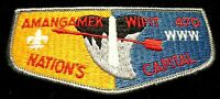 AMANGAMEK WIPIT OA LODGE 470 NATIONAL CAPITAL AREA COUNCIL PB GRAY SERVICE FLAP