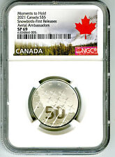 2021 $5 CANADA SNOWBIRDS SILVER NGC SP69 MOMENTS TO HOLD FIRST RELEASES RARE