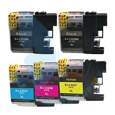 5 PACK New LC 203XL 203 Ink Cartridges For Brother J4620DW J480DW J5720DW J885DW