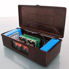 MICRO NIXIE BAKELITE! Vintage Mantel ALARM!! Clock BACK UP Batteries Mid Century