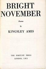 Kingsley AMIS. Bright November Poems 1964 Unauthorized