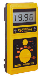 Martindale RC2000 RCD Tester with 6mA Range - 2 Year Warranty