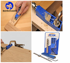 Kreg Jig Mini Kit Woodworking Pocket Hole Joinery Step Drill Bit Allen Wrench