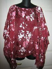 NWT CITIKNIT SILK /RAYON TOP.SIZE M