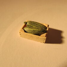 Artisan made marrows in a crate ~ 24th scale ~ dollhouse miniature food