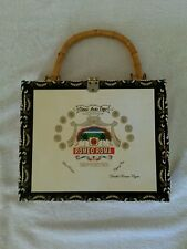 Handbag Cigar Box Casino Theme On Other Side of Bag Romeo Roma Medium Size