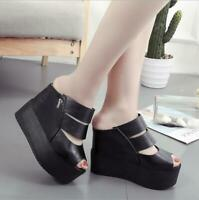 Women's New Muffin Platform Sandals Super High Heel 11cm Wedge Fish Mouth Sandal