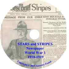 STARS and STRIPES Newspaper - WW1 -71 Issues on CD - History Genealogy 1918-19