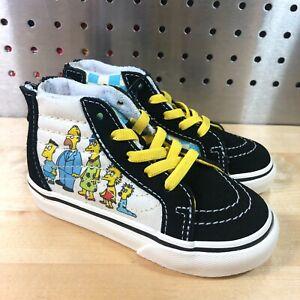 New Vans X The Simpsons Family 1987-2020 Sk8-Hi Zip 1987-2020 Toddler Sz 9.5