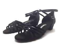 Chaussure de danse de salon pour femme:diamant couleur: noir pailleté