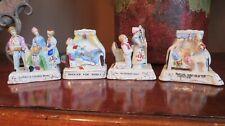 4 Vtg Reproduction Victorian Fairing Figurines Wedding Marriage Theme Humorous