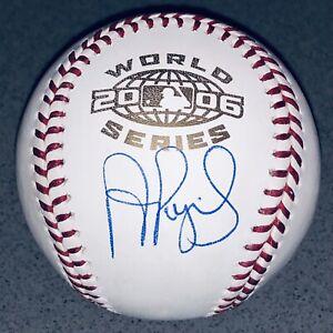 Albert Pujols Cardinals Signed 2006 World Series Autograph MLB Baseball Auto JSA