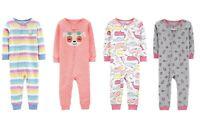 Carters Baby Girl 1-Piece Cotton PJs Footless Pajamas Sleepwear Sleeper You Pick