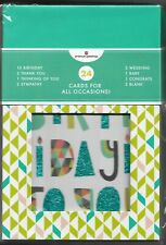 American Greetings All Occasion Boxed Cards Set of 24 Different Free Shipping