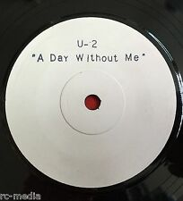 "U2 -A Day Without Me- Ultra Rare UK 1-Sided 7"" Test Pressing /White Label Record"